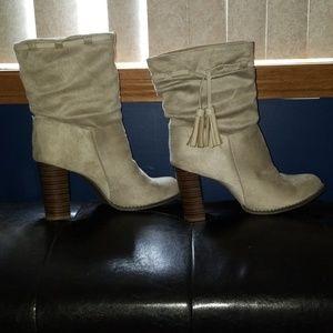 Justfab heeled booties